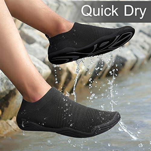 Barefoot Beach Aqua Quick-Dry Shoes Summer Outdoor Sports for Pool Swim Surf Yoga Exercise gracosy Mens Womens Water Shoes