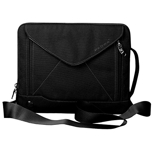 Padwa Lifestyle Shockproof Soft Sleeve Pouch Carrying Envelope Bag Case with Handle Shoulder Strap Zipper for iPad Air2/ iPad Air/iPad 4/ iPad 3/ iPad 2/ iPad Samsung 10.1 Inch Tablet PC (Black)
