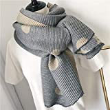 Beige Women's Warm Winter Cotton Linen Wrinkle Scarf Wraps Shawl 200Cm65Cm