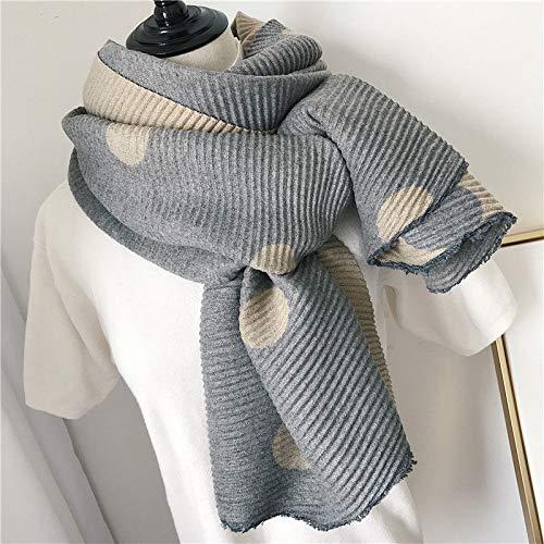 Beige Women's Warm Winter Cotton Linen Wrinkle Scarf Wraps Shawl 200Cm65Cm