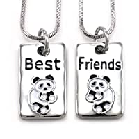 Soulbreezecollection Best Friends Forever BFF Necklace Pendant Lovers Letters Dog Tags Style Jewelry