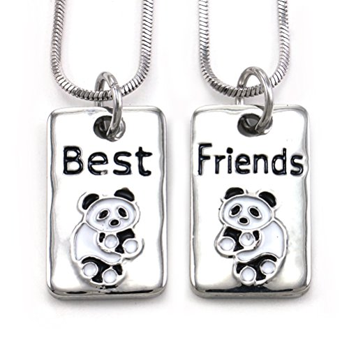 Soulbreezecollection Best Friends Forever BFF Necklace Pendant Lovers Letters Dog Tags Style Jewelry (Panda)