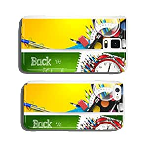 Vector set of three back to school banners cell phone cover case iPhone5