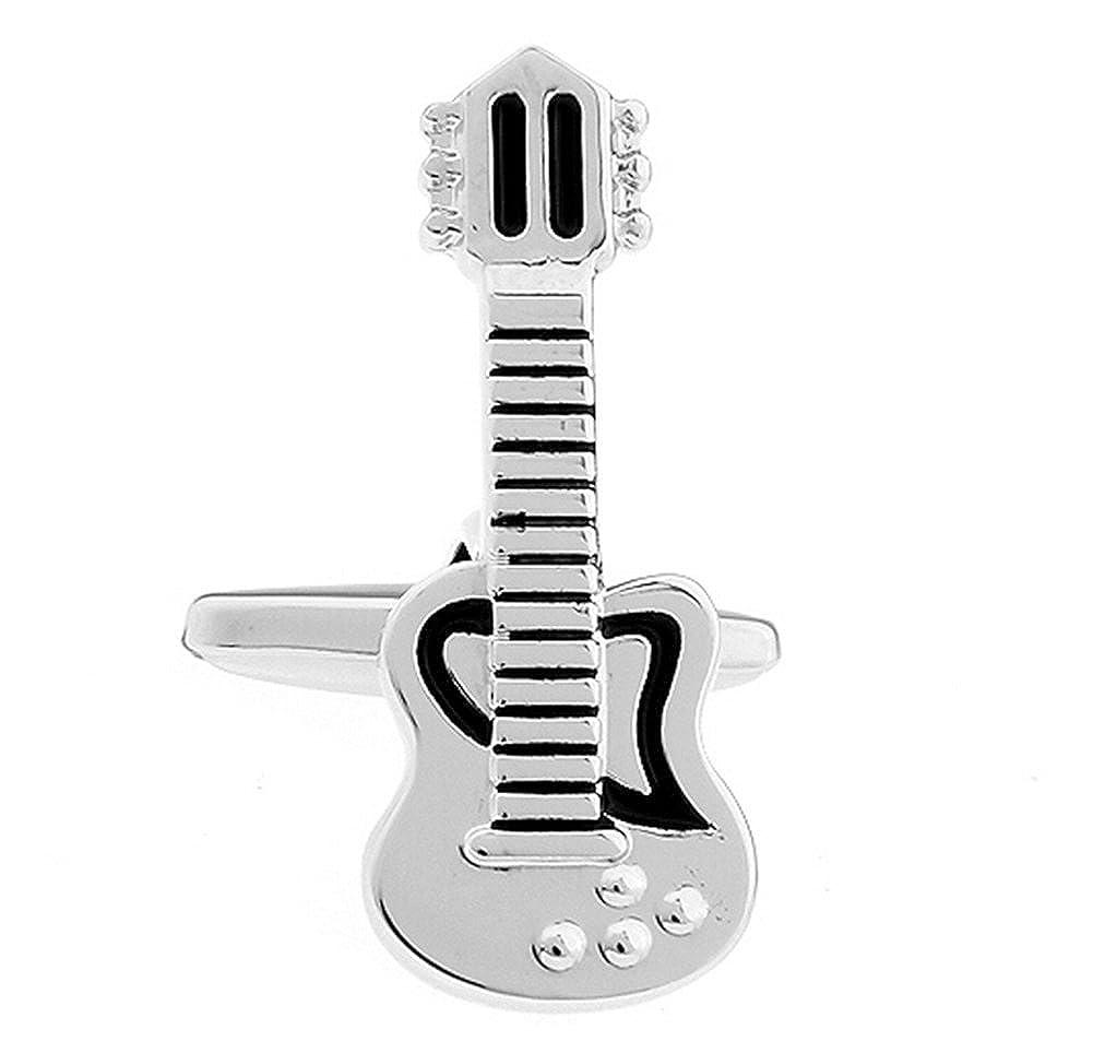 Lovinda Exquisito de la Moda Guitarra Electrica Gemelos Camisa Studs ...