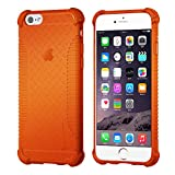 iPhone 6s Case, LUVVITT [Clear Grip] Soft Slim Flexible TPU Back Cover Transparent Rubber Case for Apple iPhone 6 / iPhone 6s (4.7 inch) - Neon Orange
