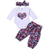 Toddler Baby Girls Long Sleave Love Floral Print Big...