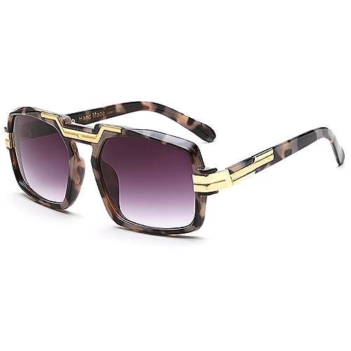 Retro Gafas de sol hombres cuadrados gafas de sol de aviador vintage metal marco mujer