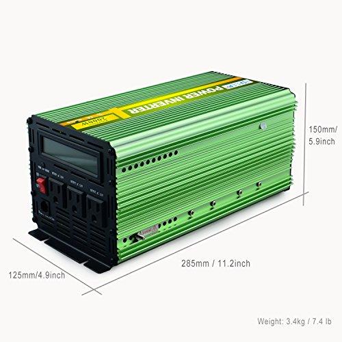 Edeoca 2000W Power Inverter DC 24V to 110V AC Power Converter - Green by EDECOA (Image #3)'