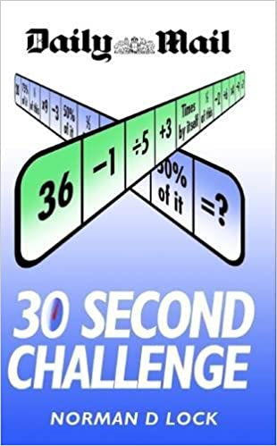 Book 30 Second Challenge: The Original Brain Trainer by Norman Lock (2015-07-02)
