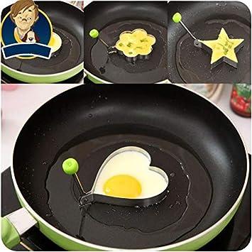 Molde de acero inoxidable para omelette de IDEA ALTO 3: molde de huevo frito para