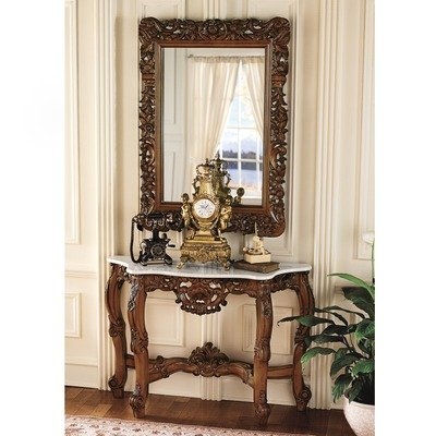 Design Toscano The Royal Baroque Mirror and Marble Topped Co