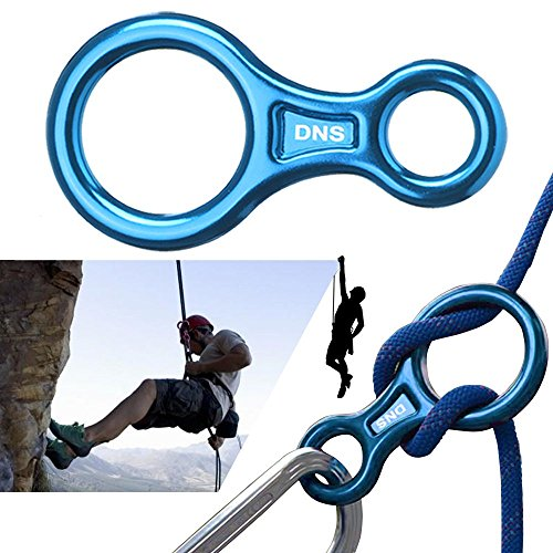 Nut Shop 35KN Figure 8 Belay Rappelling Descender Device Climbing Gear Downhill Equipment