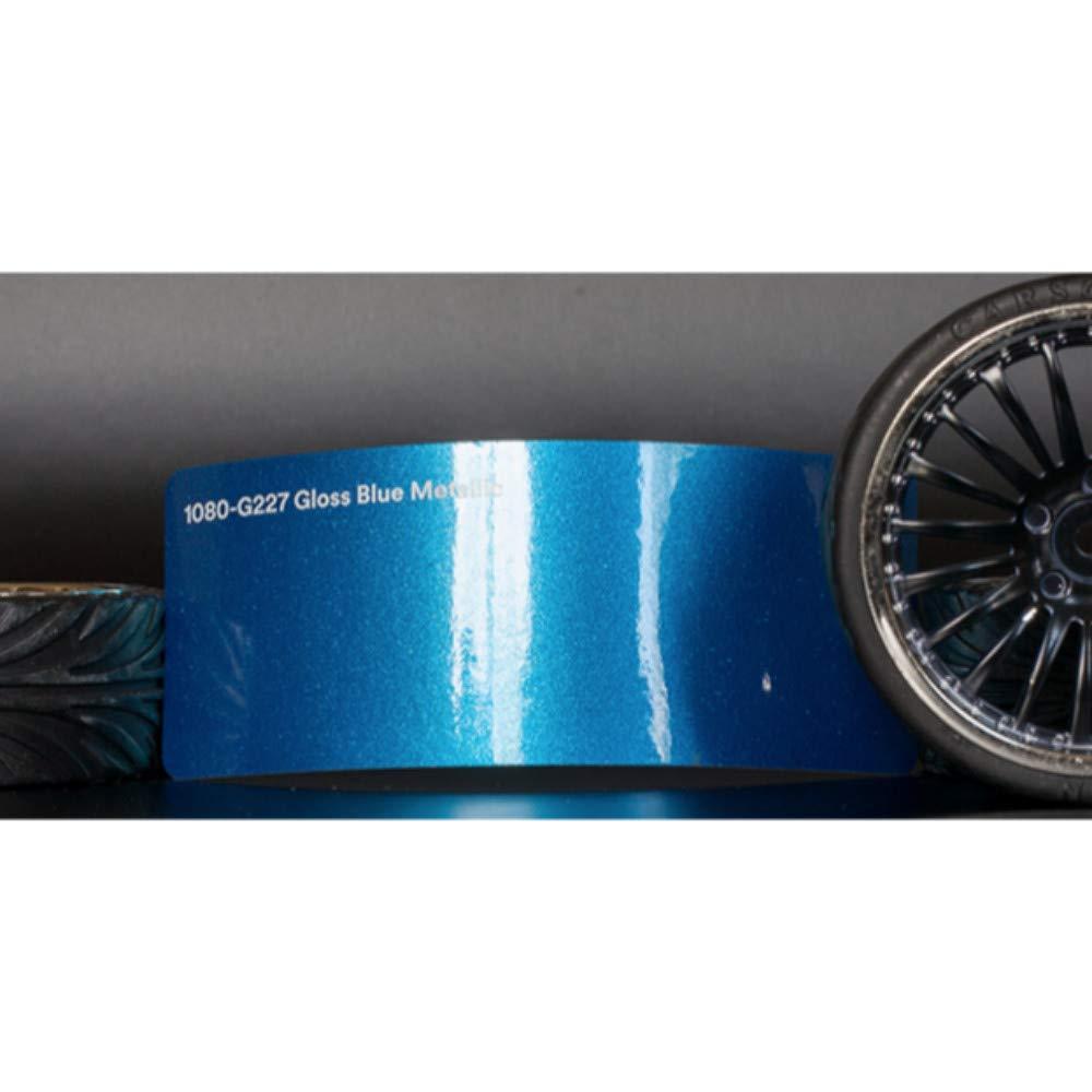 3M 1080 Gloss Blue Metallic | G227 | Vinyl CAR WRAP Film (5ft x 1ft (5 Sq/ft)) w/Free-Style-It Pro-Wrapping Glove