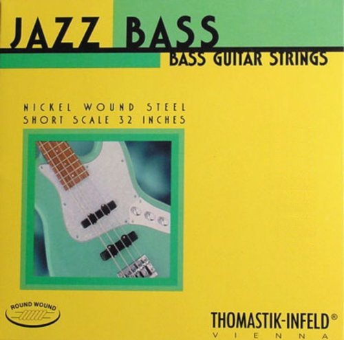 Thomastik-Infeld JR346 Bass Guitar Strings: Jazz Round Wound 6-String Long Scale Set; Pure Nickel Rounds C, G, D, A, E, B Set