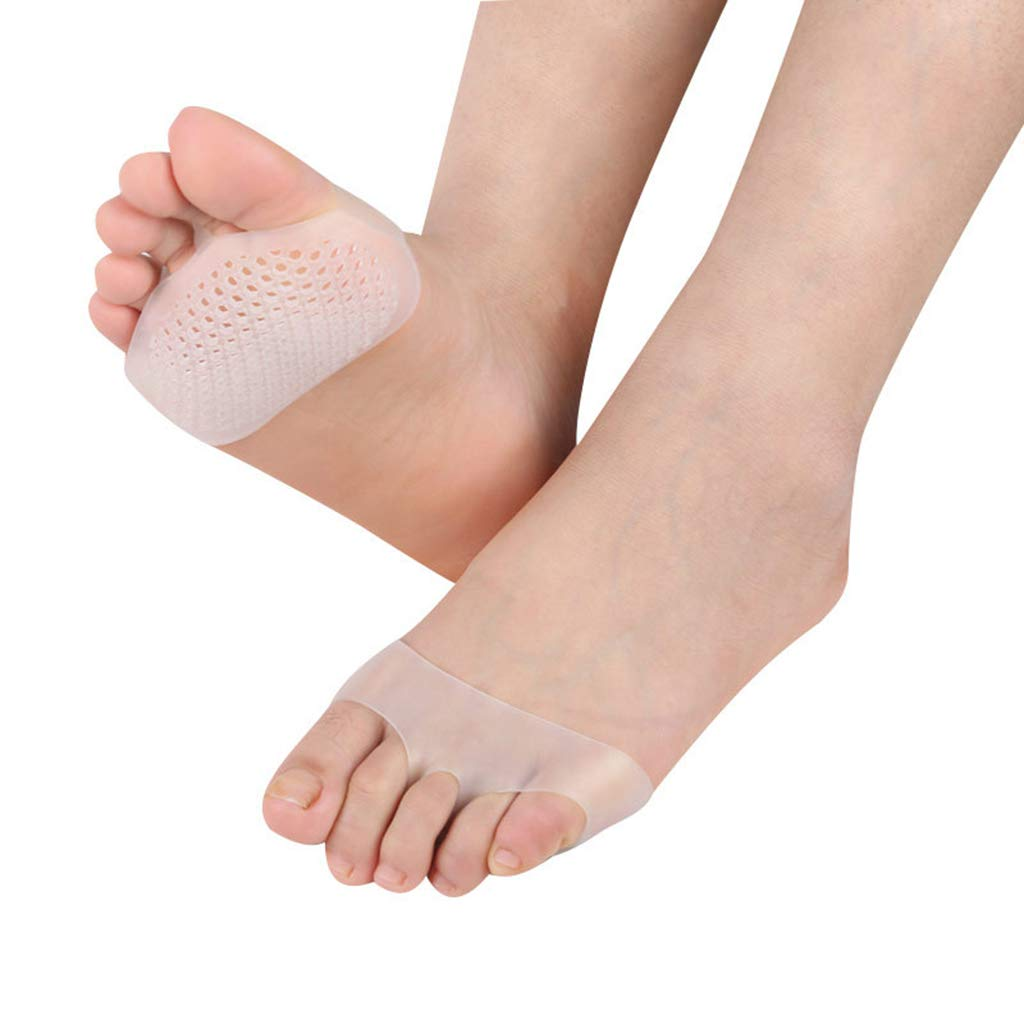Honeycomb Forefoot Metatarsal Cushions Forefoot Pads Silicone Breathable Half Toe Sleeve Suitable for Women's High Heel Insole (10 Packs) by Zywtrade