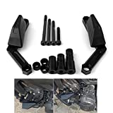 #2: FZ 09 Frame Sliders for Yamaha FZ 09 2013-2017, XSR900 2016-2017, FJ 09 2015-2017 CNC Aluminum