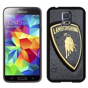 NEW Unique Custom Designed Samsung Galaxy S5 I9600 G900a G900v G900p G900t G900w Phone Case With Lamborghini Logo Close-up_Black Phone Case Kimberly Kurzendoerfer