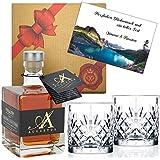 DAS Whisky-Geschenk für Kenner | 6-fach gebrannt | weltweit einzigartig | Geschenk-Set Alternative zum Single Malt Whisky aus Schottland | Augustus Single Grain Whisky aus Deutschland | in exklusiver Geschenk-Box -inkl. 2 Whisky-Tumblern