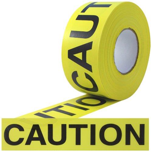 ProTapes Barricade Ribbon Polyethylene Non-Adhesive Tape, 3 mil Thick, 1000' Length x 3