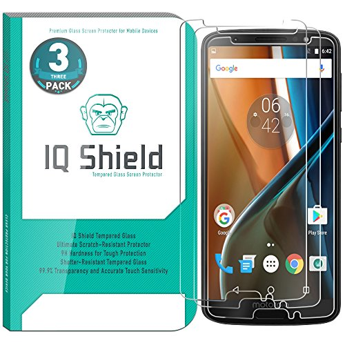 [3-Pack] IQ Shield Tempered Glass [Clear] Screen Protector for Moto G6 Transparent HD Ballistic Glass