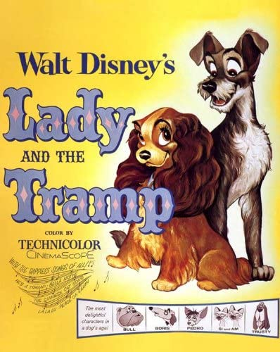 Amazon Com Lady And The Tramp 1955 11 X 14 Movie Poster Style A Prints Posters Prints