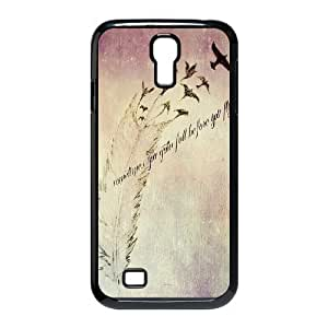 Feather Quote Fly Custom Cover Case for SamSung Galaxy S4 I9500,diy phone case ygtg615577