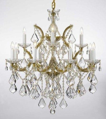Maria Theresa Chandelier Lighting Crystal Chandeliers H30 X W28 Made with Spectra Crystal Reliable Crystal Quality by Swarovski
