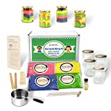 Kids Candle Making Kit- Make 4 Scented Granulated Wax Candles- Complete Beginners Set - Great for Parties, STEM Kits, Kids Crafts