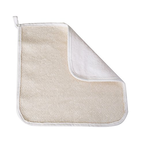 Evriholder Soft-Weave Home Spa Exfoliating Face and Body Wash Cloths, Set of 3, Dual-Sided With Exfoliating Scrub and Soft Terrycloth