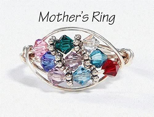 Amazon.com: 9 Stone Mother's Birthstone Ring: Personalized