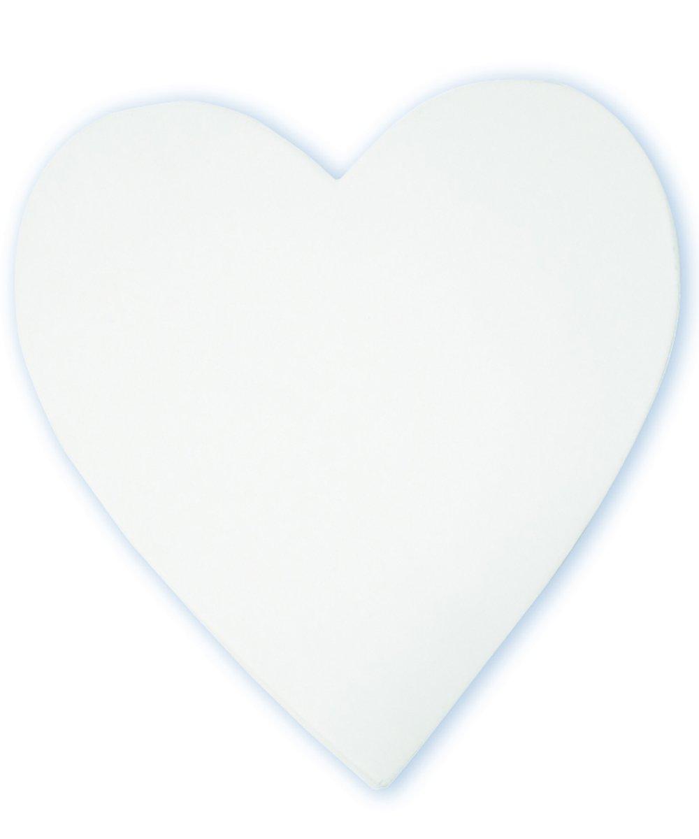 décopatch Mache Little Heart Symbol, 1.5 x 12 x 12 cm, White AC757C