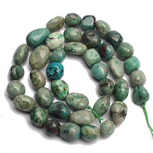 Love Beads Stone Beads Irregular Loose Gemstone Beads 8-11mm for Jewelry Making (Chrysocolla)
