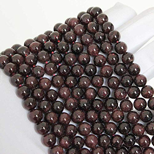 Natural Garnet Beads Round Loose Gem Beads for DIY Jewelry Bracelet Necklace
