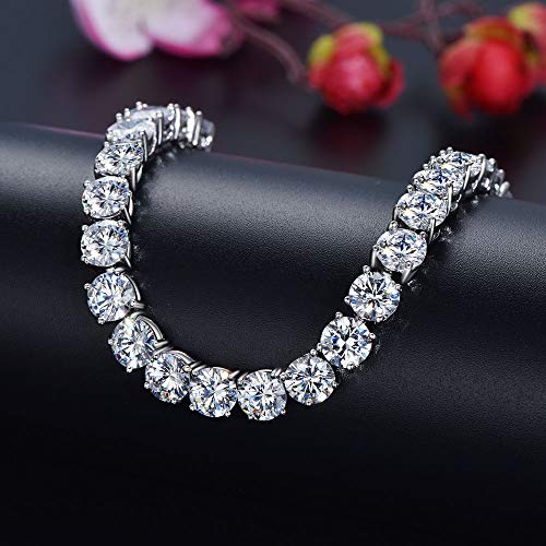 KnSam Bracelets with Charms White Gold Plated Women Tennis Bracelet Colorful AAA Cubic Zirconia Round Square Charm Bangle