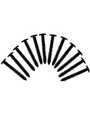 (Black) Pack of 12 Vinyl Shutter Fastener Spike Loks for Installing Decorative Exterior Vinyl Shutters