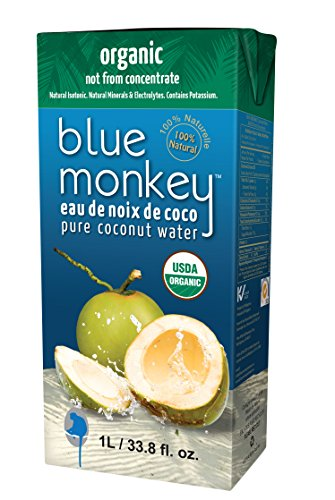 Blue Monkey Coconut Collection Water - Coconut - Pure - Case of 12 - 33.8 Fl oz.