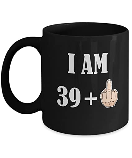 40th Birthday Gifts For Women Men 39 Plus 1 Happy 40 Years Old Yr Funny Coffee
