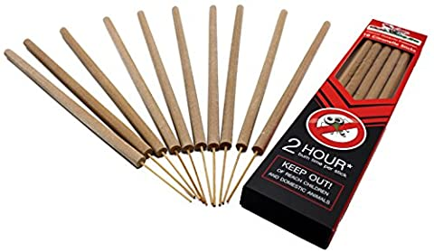 Kick Mosquito Repellent Sticks Incense Citronella Lemongrass All Best Thailand 100% Natural - Burn 2 Hours Each - Protect Home Baby Kids Backyard Outdoor Garden Yard - DEET FREE (Pack of (Screen Porch Systems)