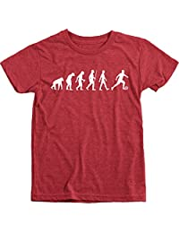 Evolution Of A Soccer Player Boy's Tri-Blend Crew Neck T-Shirt