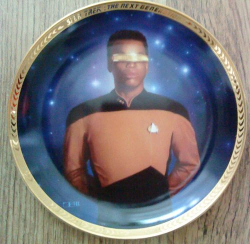 1993 Hamilton Star Trek Next Genertion Geordie La Forge Collector Plate - Limited And Mint Condition