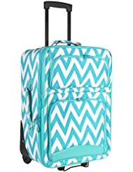 Ever Moda Chevron Carry On Luggage