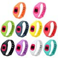 FengleMa Wireless Fitness Monitor Silicone Accessories Replacement Wristband Bracelet for Fitbit Zip (10 pcs)