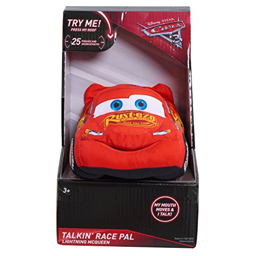 Just Play Cars 3 Talking Race Pals Lightening McQueen Plush