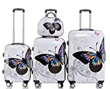 Beibye 2060 Travel Suitcase Hard-Shell Trolley Suitcase Set in 12 Designs, XL, L, M Set and Vanity Case, BEIBYE, 2060