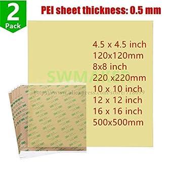 AiCheaX - Hoja de polietileno PEI Ultem1000 con cinta adhesiva ...