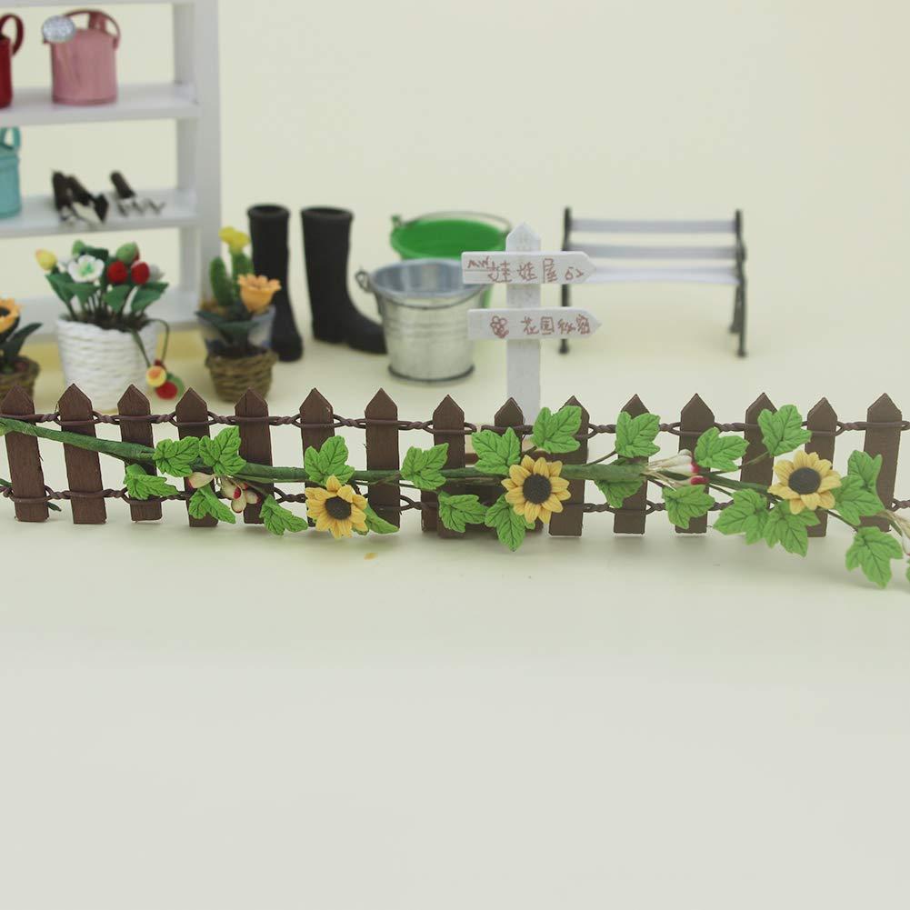 Fenfangxilas Flower Vine Toy Exquisite Dollhouse Daisy Grape Flower Vine Model Toy DIY Miniature Landscape Accessory for Children Daisy Flower Vine