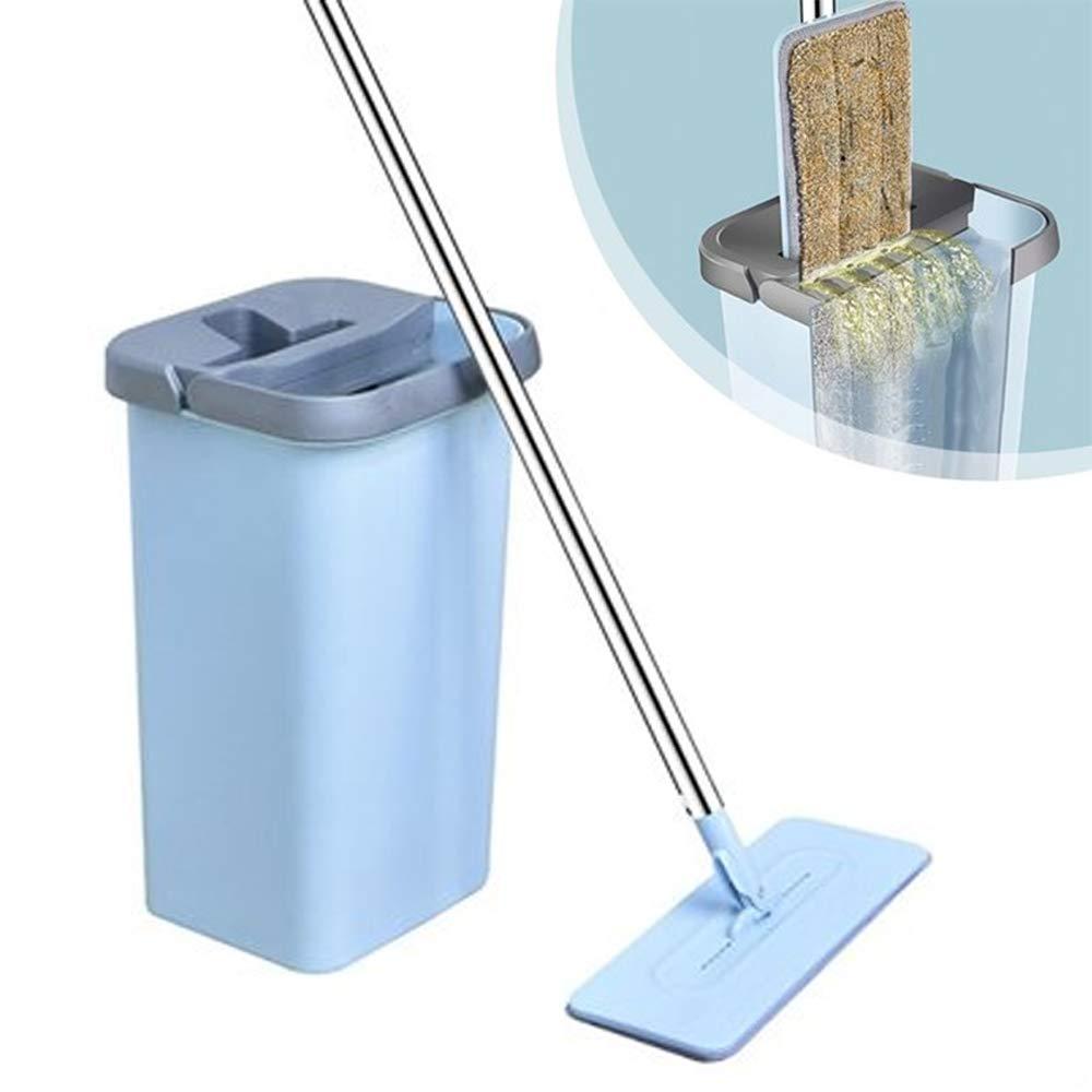 Benson Clean Flat Mop Balai /à Franges en Microfibre Bleu