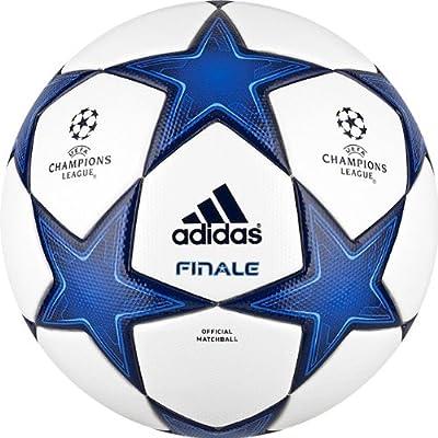 adidas Finale 10 balón Fútbol Blanco/Azul eléctrico: Amazon.es ...