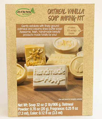 Life of the Party Oatmeal Vanilla Soap Making Kit (Oatmeal Bar Recipe)