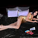 Fitted PVC Bed Sheet Sexy Dominatrix Waterproof Bondage Sex Aid King,150 * 200Mm,Adult Sex Toys for Couple